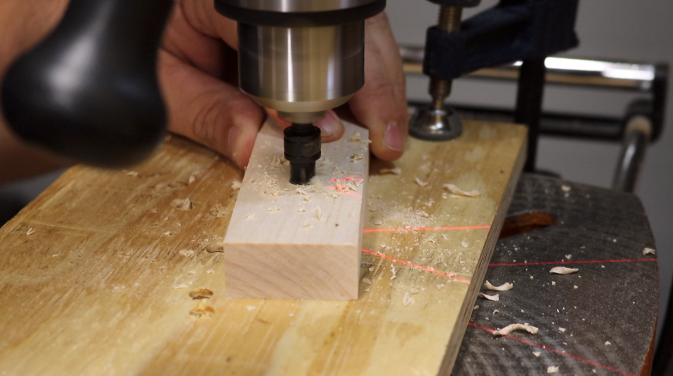 Drilling and countersinking pilot holes for the trim