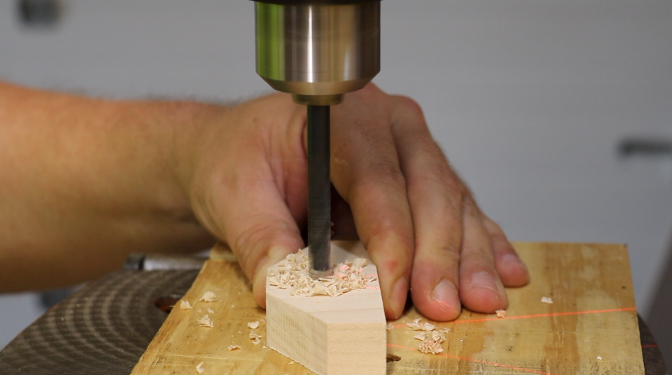 Drilling out the support bolt holes