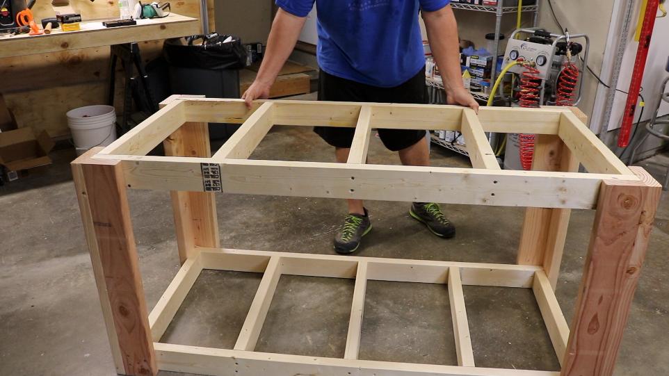 Frame and leg assembly