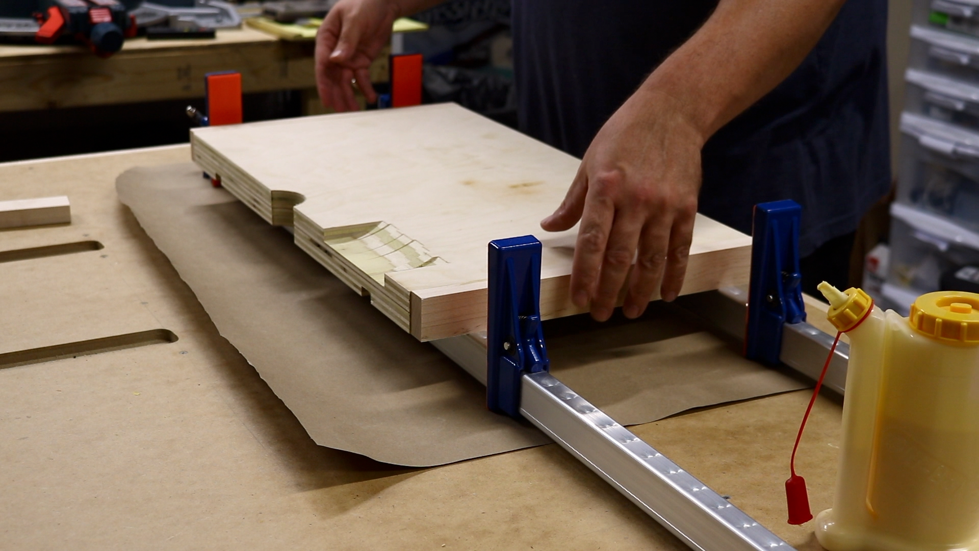 Gluing on the trim