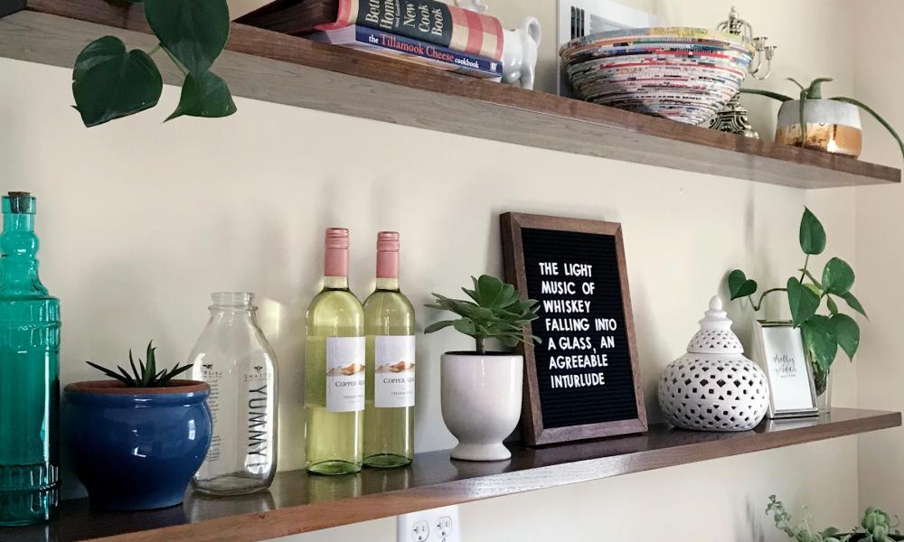 Finished shelves