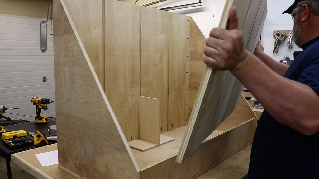 Using a jig to space the interior panels