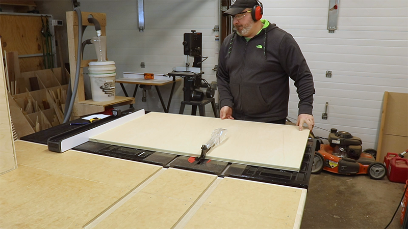 Cutting out the drawer and tray fronts