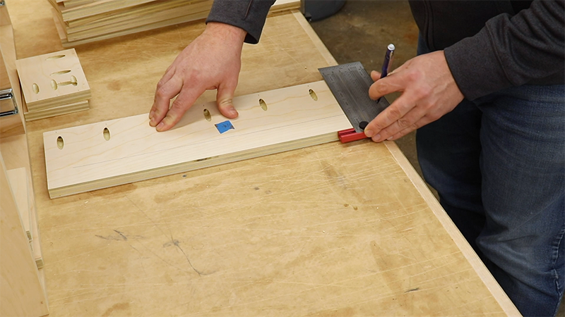 Marking out the router bit storage inserts