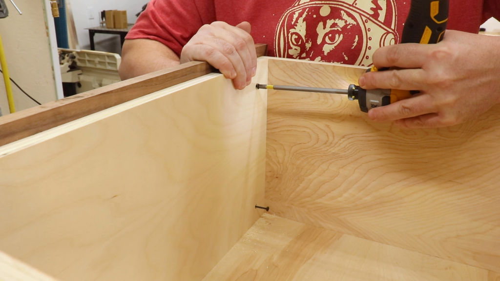 Attaching the Drawer Fronts