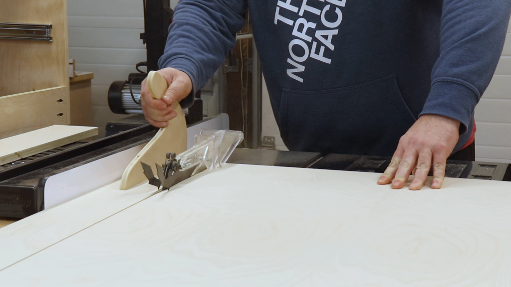 Cutting Out the Drawer Parts to Final Width
