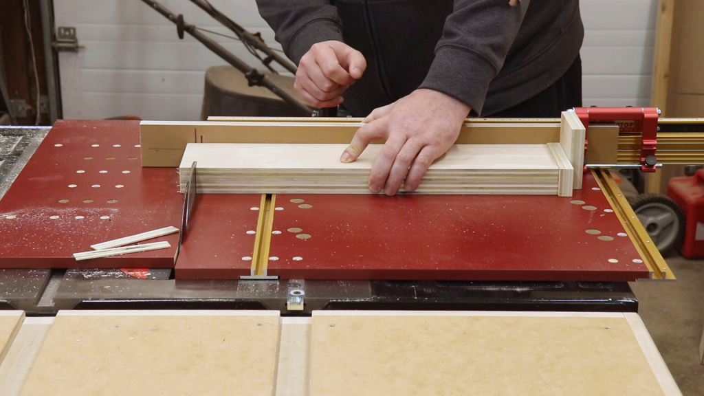 Cutting the Drawer Fronts and Backs to Size