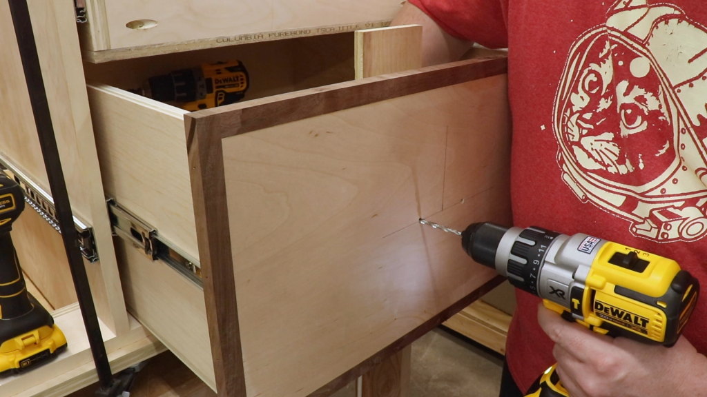 Drill the Holes for the Drawer Pulls