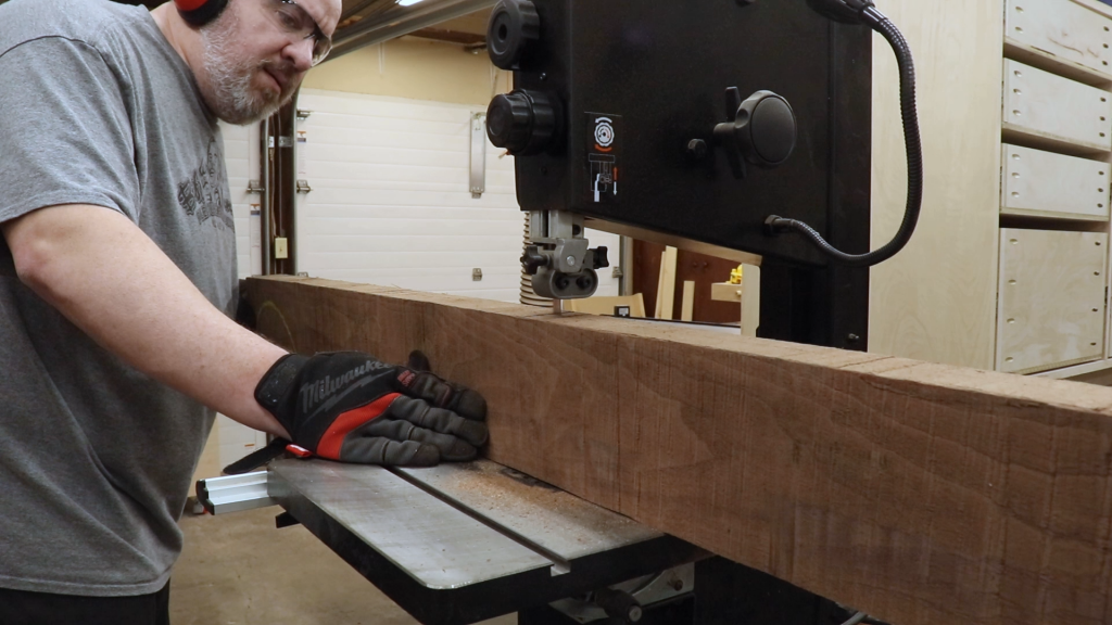 Resawing Walnut for the Drawer Front Trim